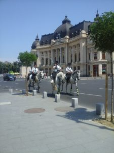 Riding Police on Calea Victoriei in Bucharest - 3