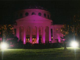 Bucharest Atheneum in Pink - 2008
