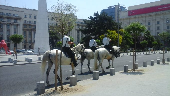 Riding Police on Calea Victoriei in Bucharest - 1